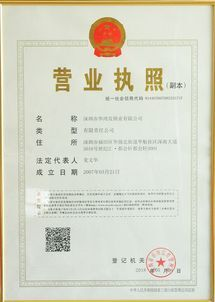 Shenzhen Huahong Hair Lock Industry Co., Ltd. business license